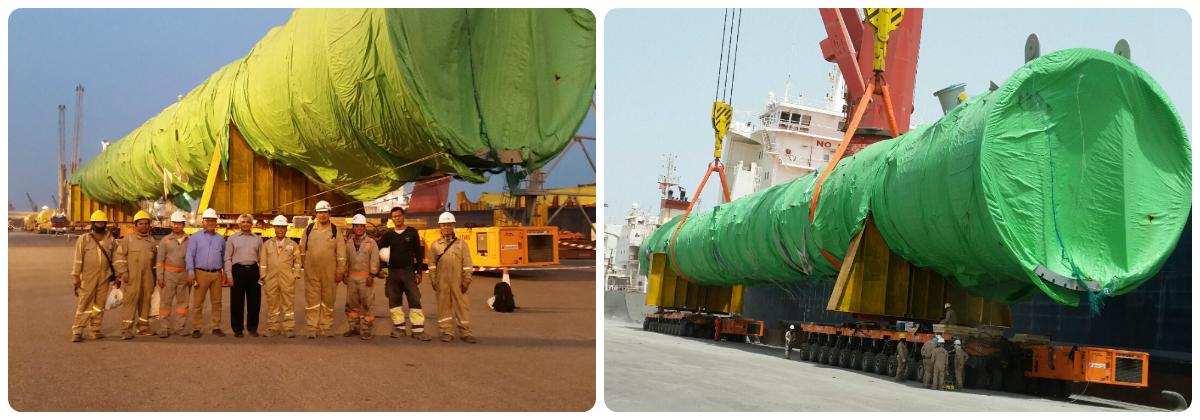 عملية نقل ثقيل ناجحة في الكويت