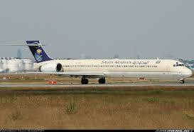 نقل طائرة إم دي 90 في المملكة